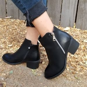 Shoes - 2/$50 Black Vegan Ankle Booties Boots